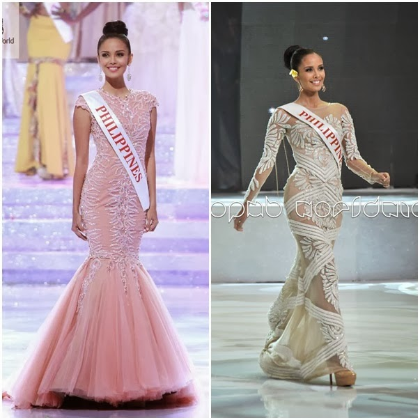 MEGAN YOUNG\'S GOWN (Coral gown by Francis Libiran)