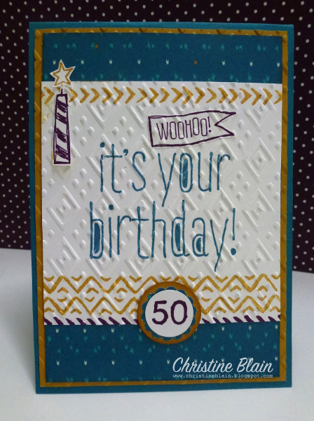 Happy Heart Cards Stampin Up Bohemianboho Masculine Birthday Card
