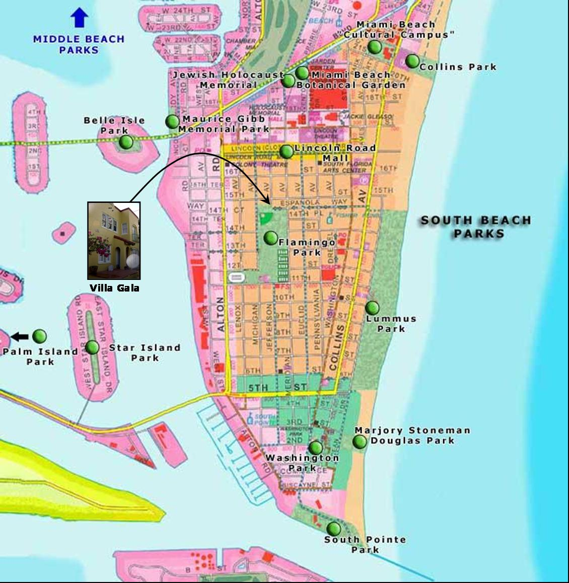 Exotic Places South Beach Miami – Miami Beach Tourist Map