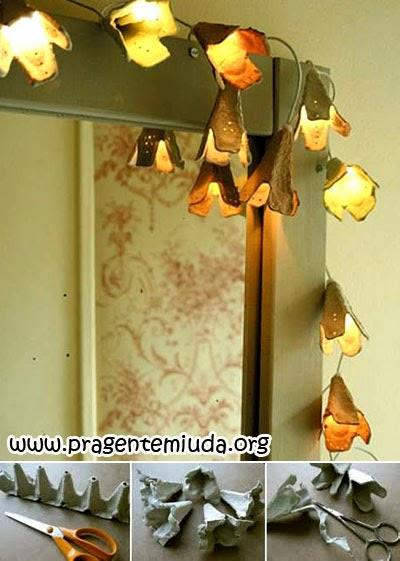 Como personalizar as luzinhas de natal com caixa de ovo