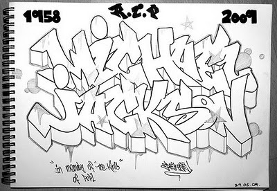 Graffiti-Michael-Jackson-Sketch-Letters