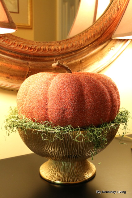 Try a Pumpkin on a Pedestal
