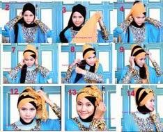 Tutorial pemakaian hijab