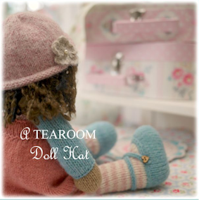♡  'A TEAROOM Doll Hat' Knitting Pattern