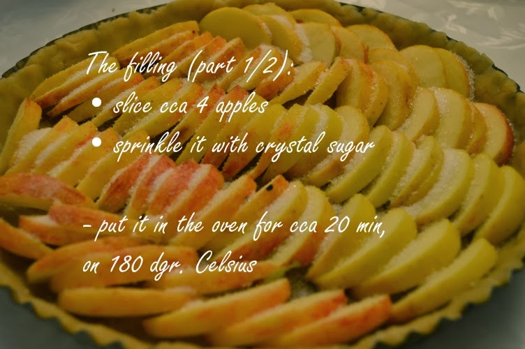Alsatian apple cake filling baking recipe