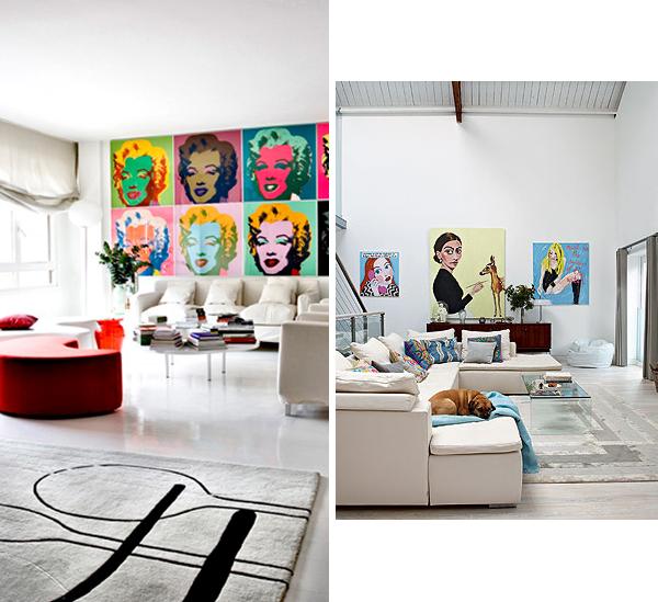 Salas estilo pop art ideas para decorar dise ar y - Decoracion pop art ...
