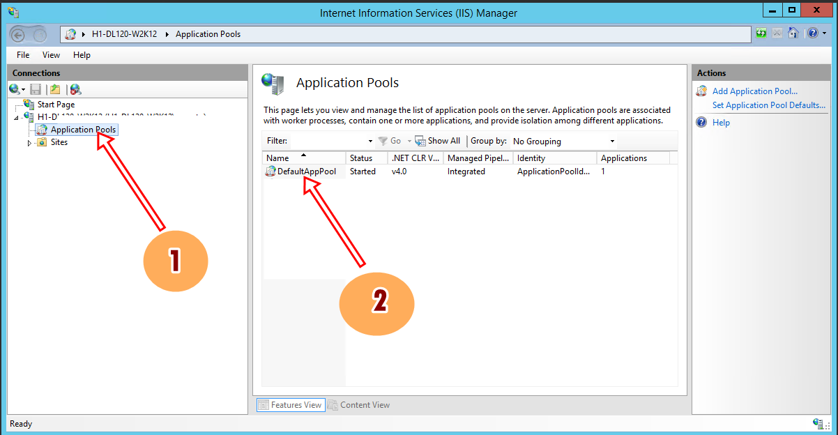 Setting Iis Internet Information Service Enable 32 Bit Application Winodws Server 2012 R2