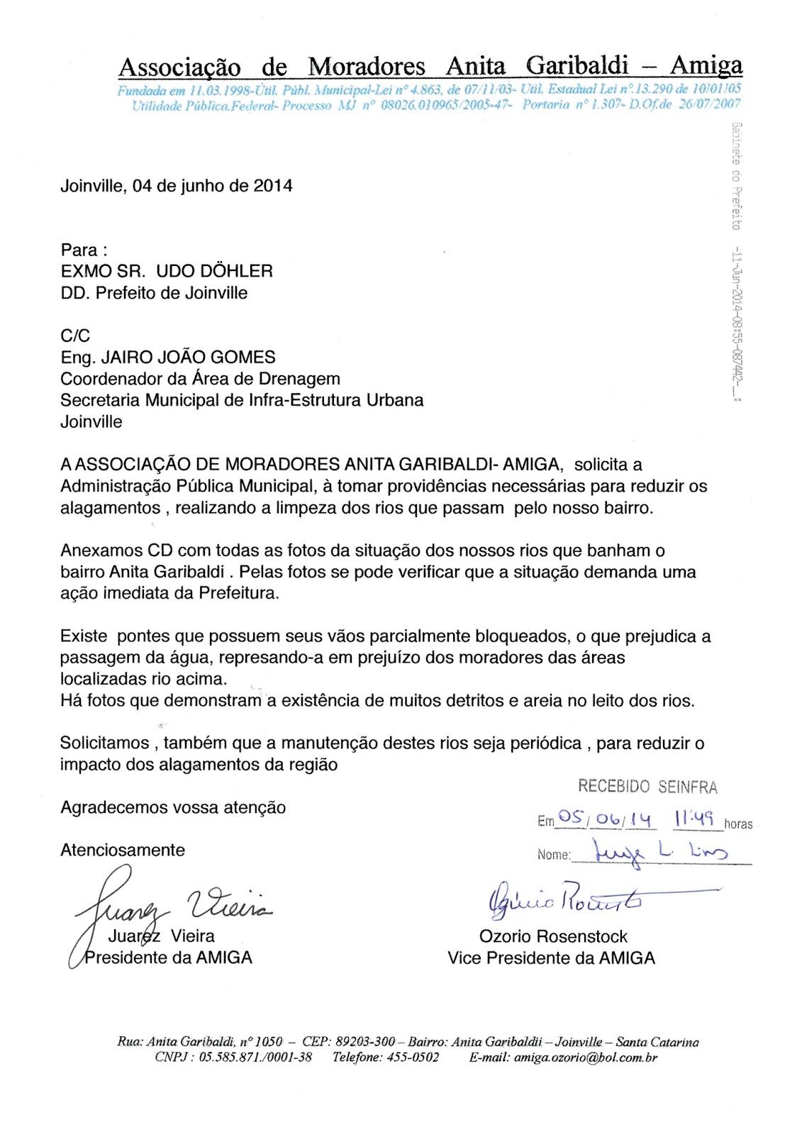 Amiga Associa O De Moradores Anita Garibaldi 2015
