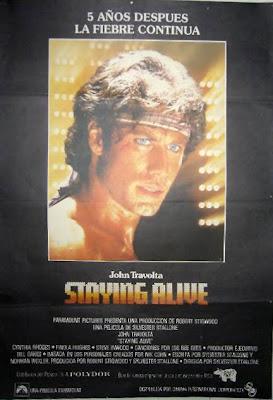 Staying Alive (La fiebre continúa), Travolta, Stallone