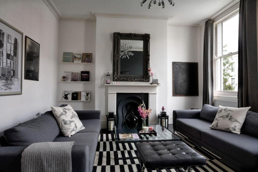 Salas en blanco y negro salas con estilo for Idea deco en blanco y negro
