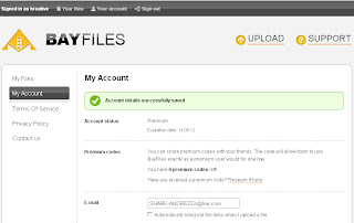 Bayfiles Premium Account 15 september 2012
