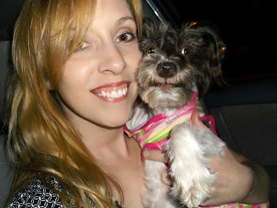 Pixel and Mommy Jenny self portrait in the car