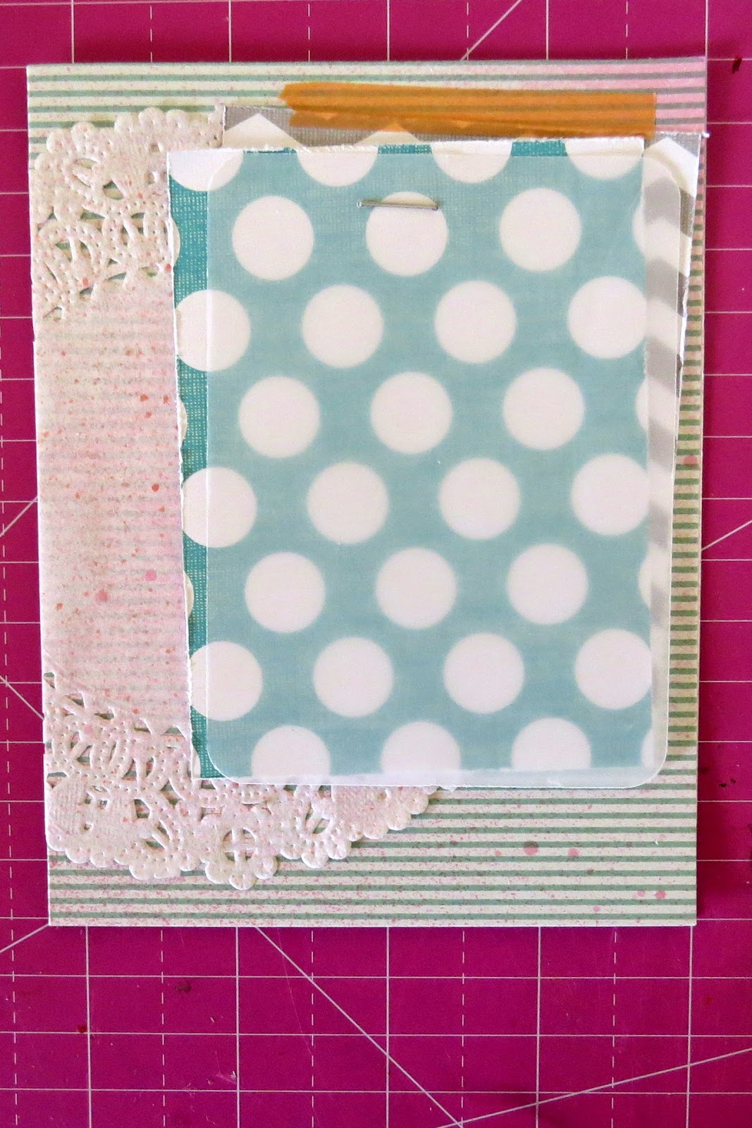 SRM Stickers Blog - Doily Thank You Card Tutorial by Shannon - #card #thanks #doilies #stickers #stitches #borders $fancy #sentiments #tutorial