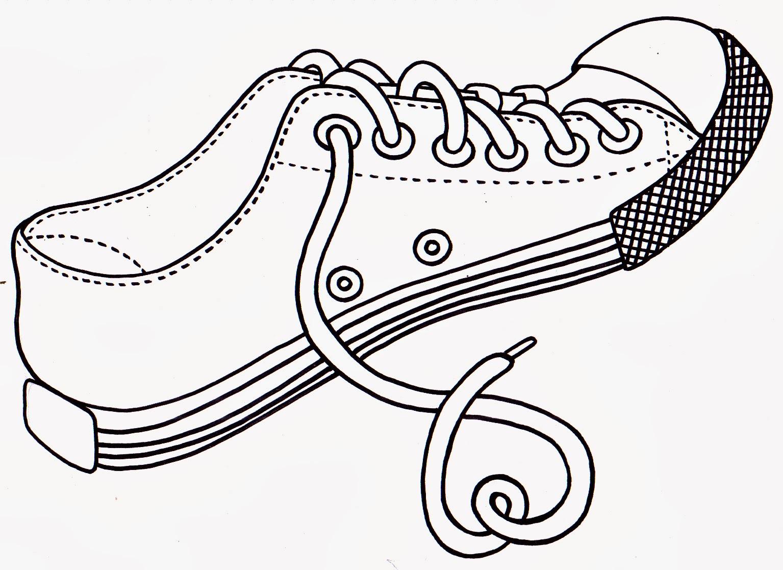 printable tennis shoe coloring pages - guitar tv sapato para colorir