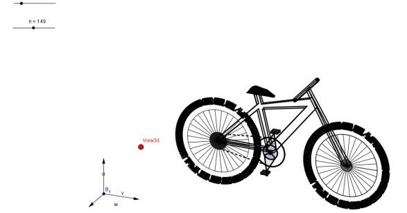 A 3D bicycle with Geogebra
