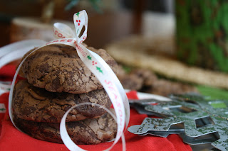 Holiday Dark Chocolate Truffle Cookies