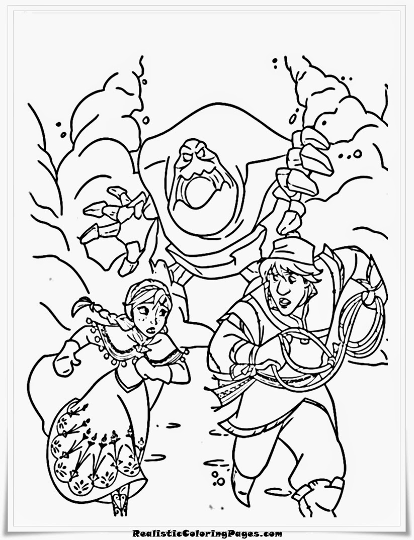 frozen coloring pages snow monster