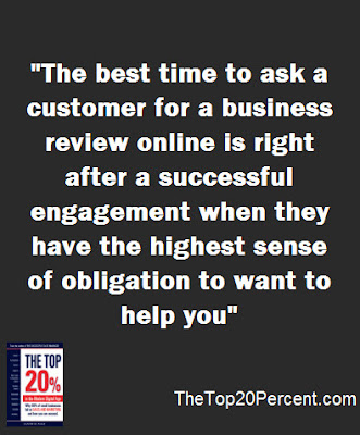 The best time to ask a customer for a business review online
