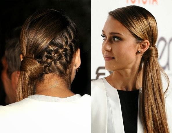 Peinado Jessica Alba Trenza - Recogido bajo con trenzas de Jessica Alba pedido Pamela Mejia y