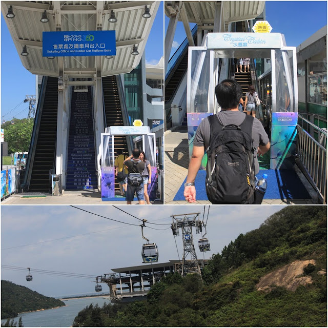 Heading to Tung Chung Cable Car Terminal at Ngong Ping 360 in Hong Kong