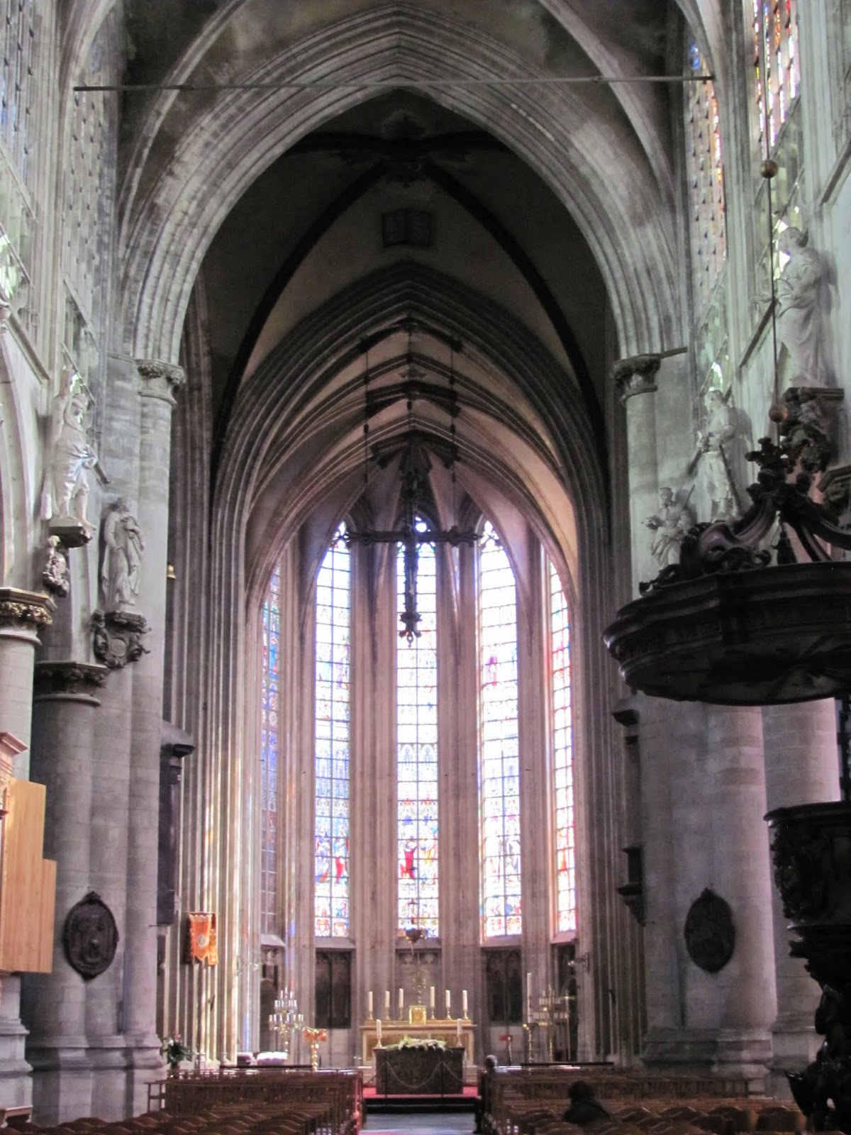 Notre-Dame du Sablon Church Interior