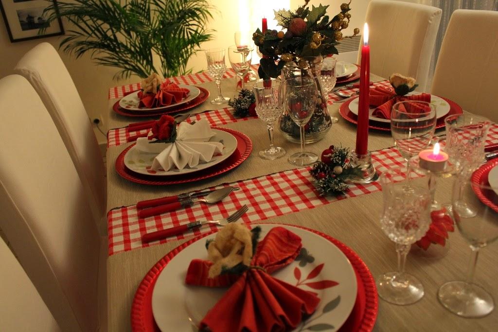 Arte e Decoraç u00e3o Como montar a mesa para o natal -> Decoração De Mesa Xadrez