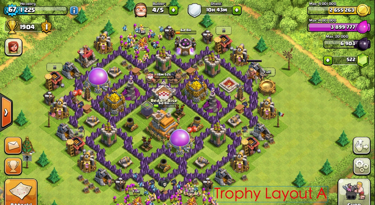 Base farming layout th6 by spikerush base farming layout th6 by - Base Coc Th 7 Terbaik Terkuat Untuk War Dan Farming The Mantis