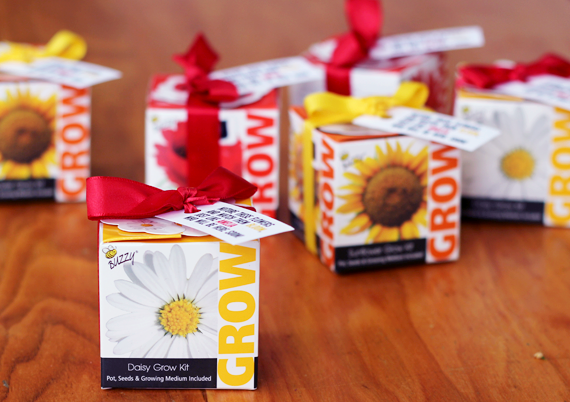 DIY Baby Shower Grow Kit Favors // via Bubby and Bean
