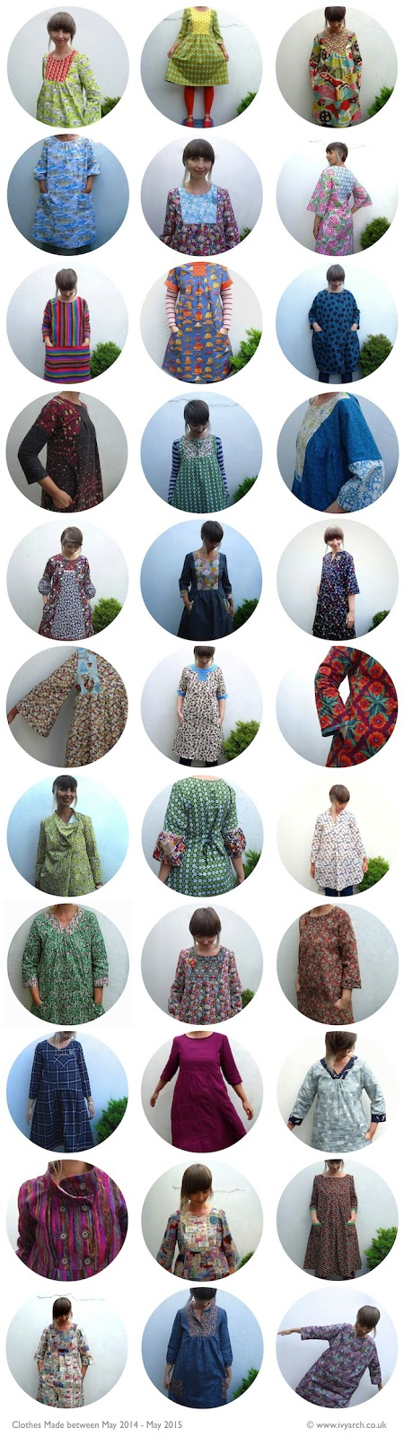 Clothes made by Ivy Arch between May 2014 and May 2015