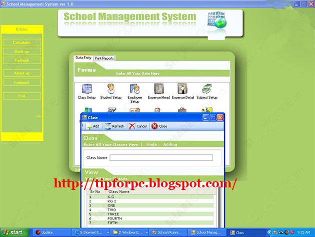 Source C# Mã nguồn Code Phần Mềm quản lý trường học 2010