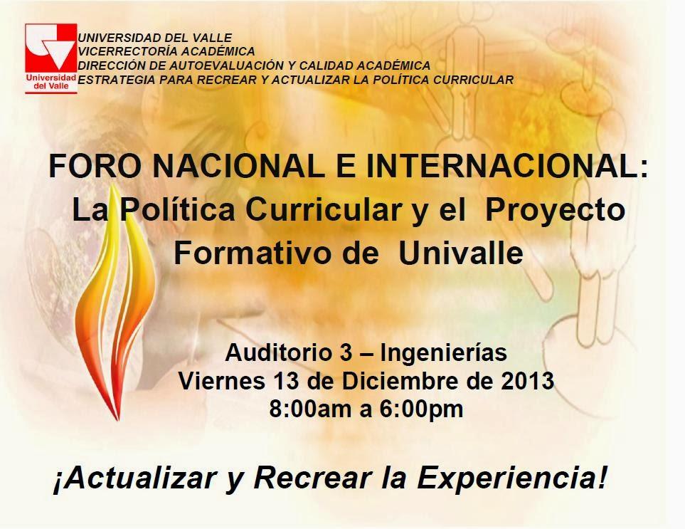 Comunicaciones humanidades univalle foro nacional e for La politica internacional