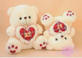 Boneka beruang love 6