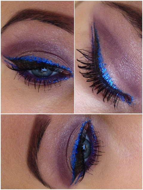Carnival Make-up! Electric Blue Eyeliner!
