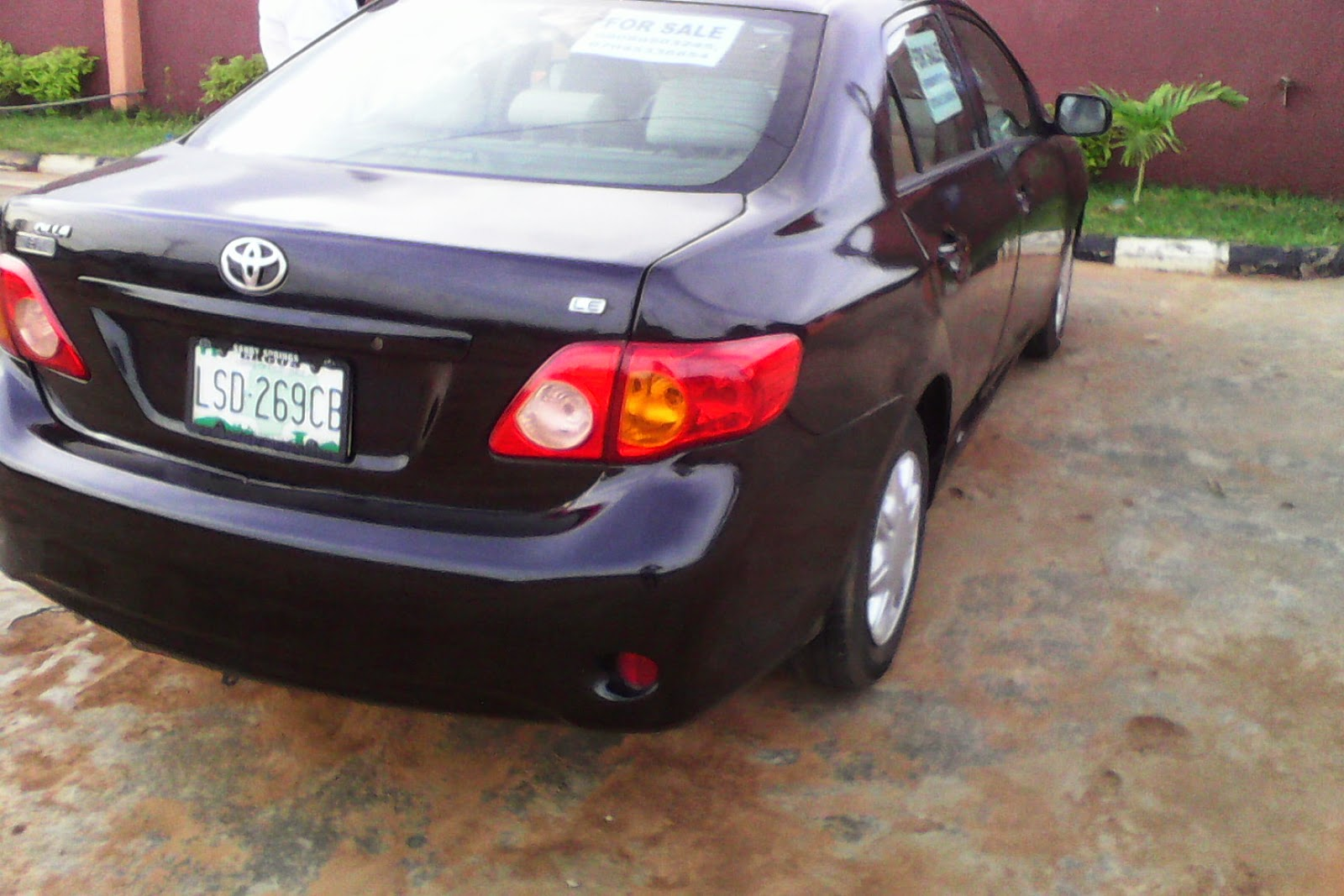 cheap and affordable registered toyota corolla 2009 model up for sale in lagos nigeria buy. Black Bedroom Furniture Sets. Home Design Ideas