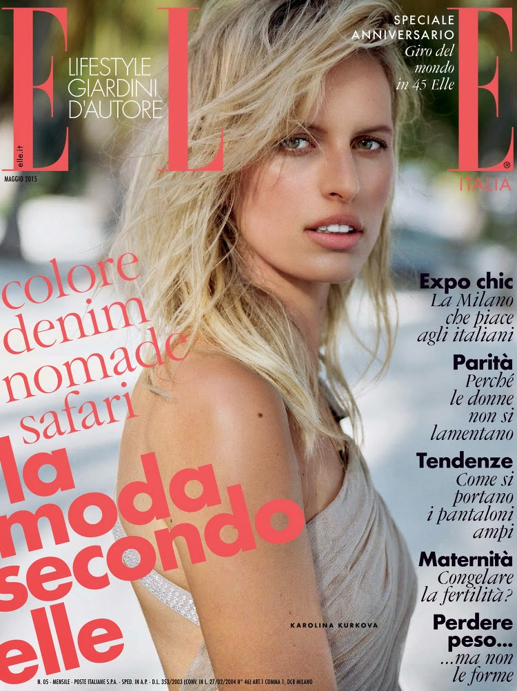 Actress @ Karolina Kurkova - Elle Italy, May 2015