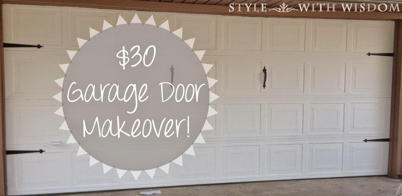 Garage Door Makeover