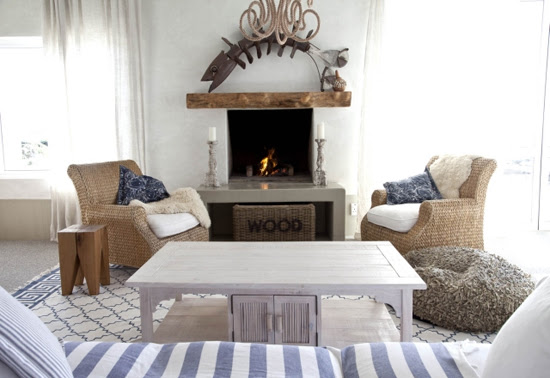 Safari Fusion blog | Beach living | An open fire for those chilly coastal evenings at Pebbles Kommetjie, South Africa