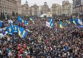 المظاهرات الشعبية في أوكرانيا