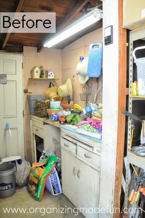Before a shed was a nightmare ::OrganizingMadeFun.com