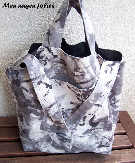 sac noir&blanc /black&white handbag