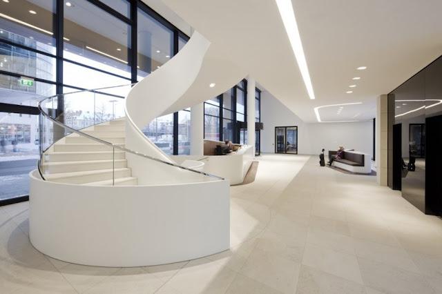 Escalera espiral minimalista blanca escaleras bonitas y - Escaleras de caracol minimalistas ...