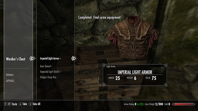 Skyrim item menu