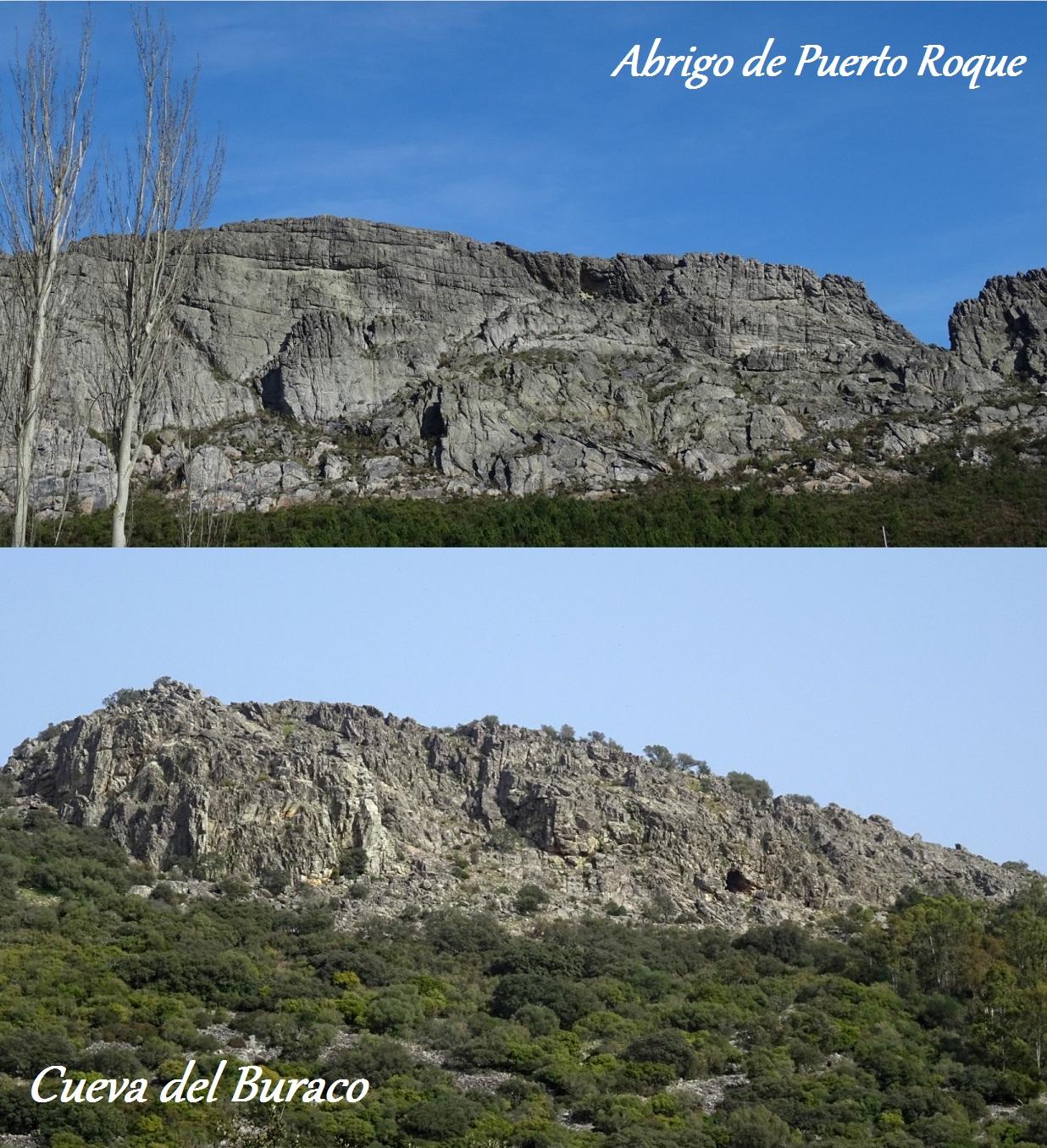Dos ejemplos de pinturas rupestres esquemáticas en la comarca de Sierra de San Pedro