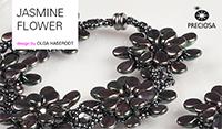 """Комплект украшений """"Цветокжасмина"""" из бусин Пип JasmineFlower Costume jewellery set made using Pip™ beads"""