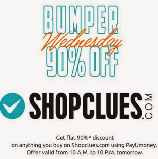 (live) 90% off on Shopclues by PayUMoney Payment