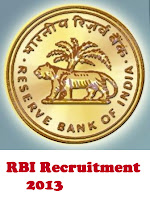 Reserve Bank of India (RBI) Recruitment 2013