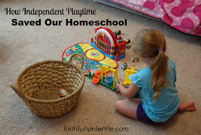 How Independent Playtime Saved Our Homeschool {Guest Post}