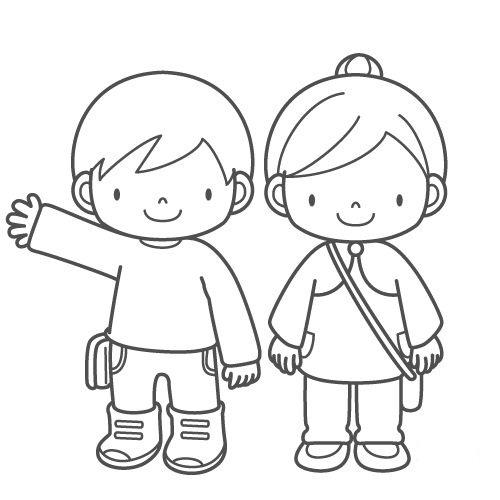 COLOREA TUS DIBUJOS: Niño y Niña para colorear