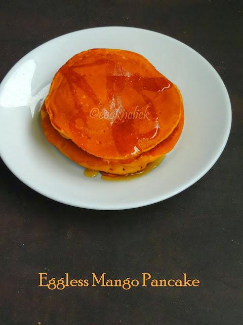 Eggless Mango Pancake