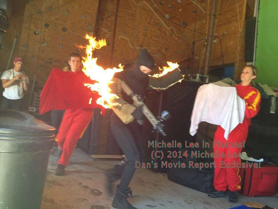 Action Actress Michelle Lee On Fire!
